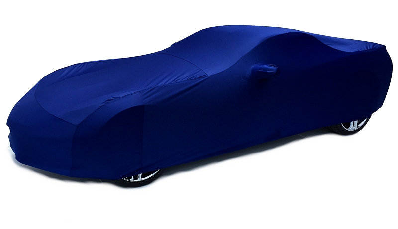 C7 Corvette Car Cover-Indoor Super Stretch X-Soft-Color Matched Velocity Yellow