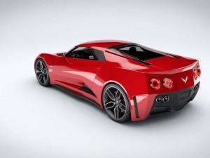 Artist rendered sketch of rumored mid-engine C8 Corvette